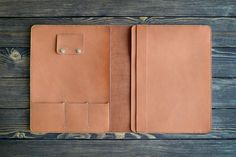 iPad Pro 12.9 inch leather folio. iPad and document by INSIDEgift