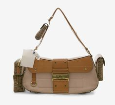 Christian Dior Pink And Brown Shoulder Bag
