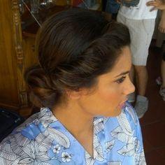 Twisted updo by Janita Helova Tuscany weddings