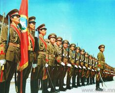 Guard of Honor of the Mongolian People's Army.