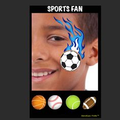 Product Info Profiles are quick and easy to use. This design comes with two stencils, one with the flame and other has the sports balls. Combine and interchange designs with StencilEyes to create an e
