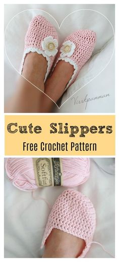 This Cute Slippers Free Crochet Pattern can include so many elements, which makes it perfect for customization.When it comes to crochet patterns, slippers are a classic. Slippers are fun to make, give and wear. Crochet Unique, Crochet Simple, Cute Crochet, Crotchet, Crochet Top, Easy Crochet Slippers, Cute Slippers, Knitted Slippers, Crochet Shoes Pattern