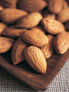 "Almonds -  A source of ""good"" fat, almonds can help your heart by lowering bad cholesterol!"