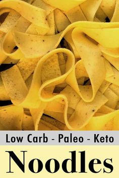 Low Carb Keto Egg Noodles - Resolution Eats It's fun to make your own egg noodles at home. All you need are eggs, cream cheese and vital wheat gluten. The result is a tasty plate of noodles with only net carbs. It's quick and easy to make at home. Keto Pasta Recipe, Keto Recipes, Ketogenic Recipes, Lunch Recipes, Smoothie Recipes, Ketogenic Diet, Pumpkin Crumble Recipe, Egg Noodle Recipes, Low Carb Noodles