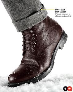 J. Lindberg boots are great. GQ offers an interesting wear detail. I won't do it, but it looks good.