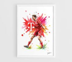 Thomas Muller Bayern Munich  A3 Art Prints of the by NazarArt