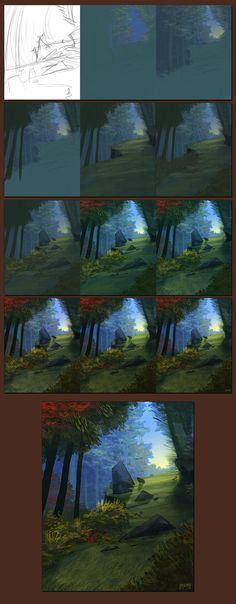 Forest Speedpaint - Steps by daPatches on DeviantArt