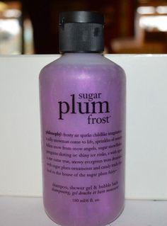 Philosophy SUGAR PLUM FROST 6 oz 3-in-1 NEW SHAMPOO SHOWER GEL BUBBLE BATH #Philosophy