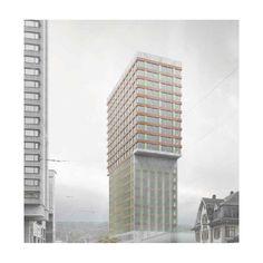 Caruso St John Architects hochhaus südwest mitte . franklinturm oerlikon . zürich #architecture