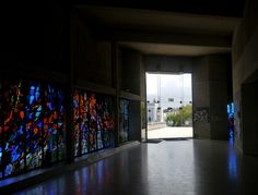 Henry Haig Stained Glass, Pentacost  Window and entrance