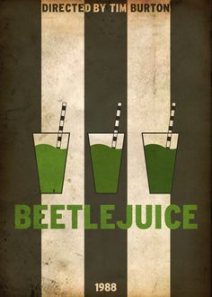 Minimal Movie Posters, Beetlejuice by rehalone Beetlejuice Movie, Tim Burton Beetlejuice, Beetlejuice Quotes, Minimal Movie Posters, Minimal Poster, Retro Posters, Room Posters, Alternative Movie Posters, Movie Poster Art