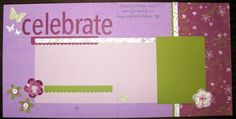 Cottage Wall Scrapbook layout stampin' Up!
