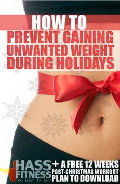 HOW TO PREVENT GAINING UNWANTED WEIGHT DURING HOLIDAYS |By: @hassfitness  #bodybuilding #fitness #christmas #weightloss #plan #workout #2015