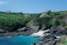 Prussia Cove, Cornwall, UK this is the house and cove where the film Ladies in Lavender was set