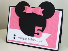 Paper Tree Crafts: Minnie Mouse card Circle punches, MFT bow and nume...