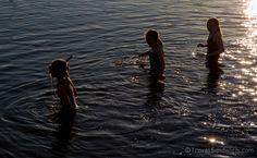 Three friends enjoy a swim in Kenmare Bay. #summer #friendship #Ireland