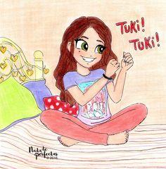 "TUKI! TUKI! @karolsevillaofc ✨ Wooohoooo! ✨ Espero que les guste, gracias a todos y a cada uno por haber comentado en mi anterior publicación ""TUKI TUKI"" para que aparezca el dibujo en color!  Ustedes son increíbles!  #karolsevilla #tukituki..."
