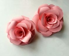Diy Paper Rose  •  Free tutorial with pictures on how to make a flowers & rosettes in under 10 minutes #howto #tutorial