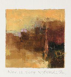 Nov. 11, 2014 - Original Abstract Oil Painting - 9x9 painting (9 x 9 cm - app. 4…