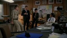 The Mentalist - Season 3 Episode 9 Red Moon - Connor Trinneer as Deputy Bob Woolgar. Here with Patrick Jane, Teresa Lisbon and Kimball Cho