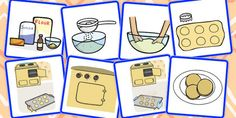 * NEW * 8 Step Sequencing Cards - Biscuits