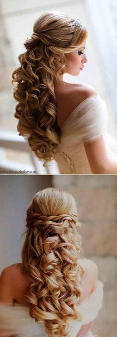 Check out these 25 elegant half updo wedding hairstyles, from Long Hairstyles: Can't decide between an updo and downdo as your wedding hair? Here are the best 25 Elegant Half Updo Styles for Weddings… Down Hairstyles For Long Hair, Wedding Hairstyles Half Up Half Down, Wedding Hairstyles For Long Hair, Elegant Hairstyles, Gorgeous Hairstyles, Hairstyles 2018, Half Updo Hairstyles, Latest Hairstyles, Long Hair Half Updo