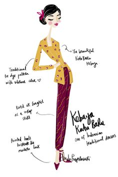 Take a Look: Wedding Hoppers - Kebaya Kutu Baru (Indonesian traditional dress)