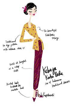 Take a Look: Wedding Hoppers - Kebaya Kutu Baru (Indonesian traditional dress)