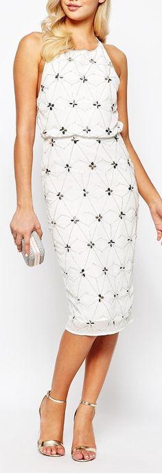 crystal embellished dress