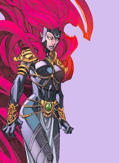 Queen Medusa by Joe Madureira Marvel Dc Comics, Marvel Art, Marvel Heroes, Marvel Avengers, Comic Book Girl, Comic Books Art, Comic Art, Female Comic Characters, Marvel Comic Character