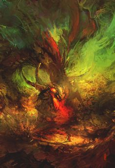 awesomedigitalart:  Bull dragon by RHADS
