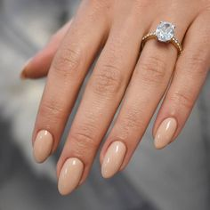 "3,551 Likes, 25 Comments - BRIDES Magazine (@brides) on Instagram: ""Sometimes you just need a natural nail to show off your bling ✨ Love this look? We found the best…"""