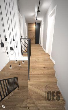 Biało szary przedpokój - Hol / przedpokój, styl skandynawski - zdjęcie od OES architekci Stair Railing Design, Stair Decor, Staircase Railings, Dream Home Design, Home Interior Design, Stairs In Kitchen, Small Hall, Home Salon, Foyer Design
