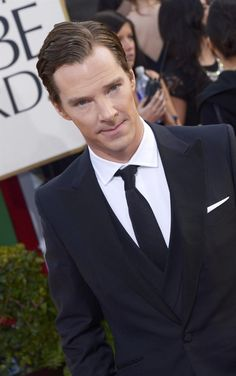 Benedict Cumberbatch, the Golden Globe 2013