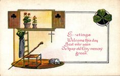 Patrick's Day Postcard, Visual Studies Collection, Library of Virginia. Golden Age, St Patrick, Postcards, Virginia, Memories, Day, Collection, Memoirs, Souvenirs