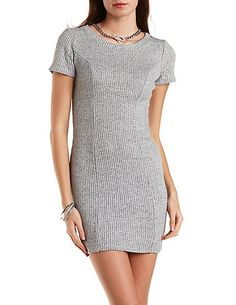 Ribbed Knit Bodycon Dress #charlotterusse #charlottelook