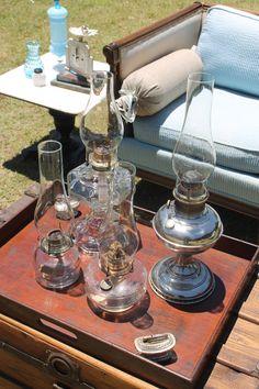 Southern Vintage Wedding Rentals, oil lamps are elegant and rustic @Julie Forrest Forrest Schultz