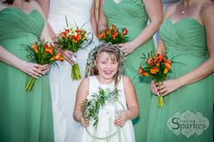 I loved the colours for this fall wedding. Look how the flowers pop with the bridal parties dresses.