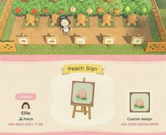 Game design 776519160742086517 - Animal Crossing Design — acnhcustomdesigns: fruit orchard single signs… Source by Ecchan_