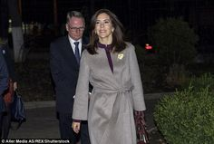 On the first day of her trip, the 44-year-old Princess sported a stunning purple blouse, a...