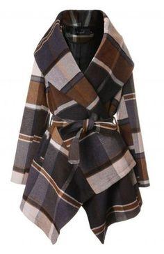 Prairie Check Rabato Coat by Chic+ - Retro, Indie and Unique Fashion Unique  Fashion, 540ac6a2fedc