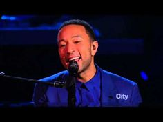 Alicia Keys & John Legend - Let It Be (Beatles 50th anniversary) - YouTube   The ABSOLUTE best cover of this song ever!  I have a girl crush on her and well, he's just handsome as all get out too.  Beautifull beautiful!