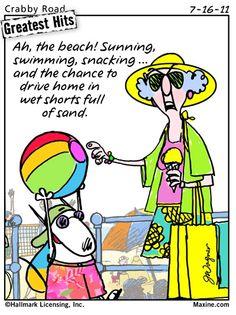 Maxine at the beach