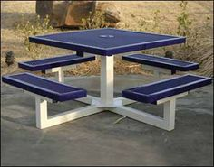 Make use of these cost-free picnic table plans to build a picnic table for your yard, deck, or any other area around your residence where you need sitting. Developing a picnic table is . Read Best Picnic Table Ideas for Family Holiday Welded Furniture, Iron Furniture, Steel Furniture, Industrial Furniture, Table Furniture, Furniture Makeover, Garden Furniture, Outdoor Furniture Sets, Furniture Design