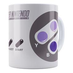 Caneca Super Nintendo Controle 01 com o menor preço é aqui. Clique e veja mais modelos de canecas personalizadas e criativas. Confira!