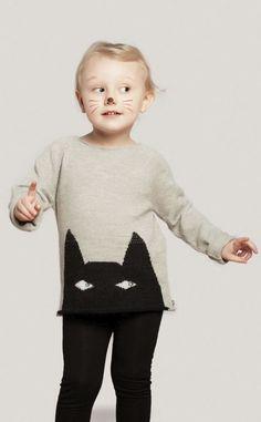 Peeking kitty sweater