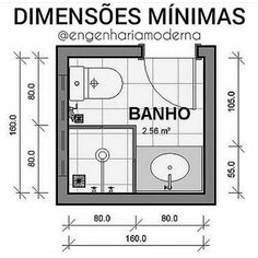 Com espaços cada vez mais reduzidos sempre nos deparamos com a pergunta qual o . Bathroom Layout Plans, Small Bathroom Layout, Bathroom Design Layout, Bathroom Floor Plans, Bathroom Design Luxury, The Plan, How To Plan, Bathroom Dimensions, Hotel Room Design