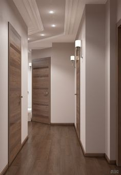Narrow hallway | LESH (design project, hallway, corridor, idea, interior, beige, lighting, modern)