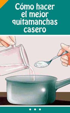 Cómo #hacer  el #mejor #quitamanchas #casero. Elimina hasta las #manchas más #difíciles! #eliminar #lavar #ropa #DIY