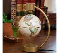 vintage floating globe